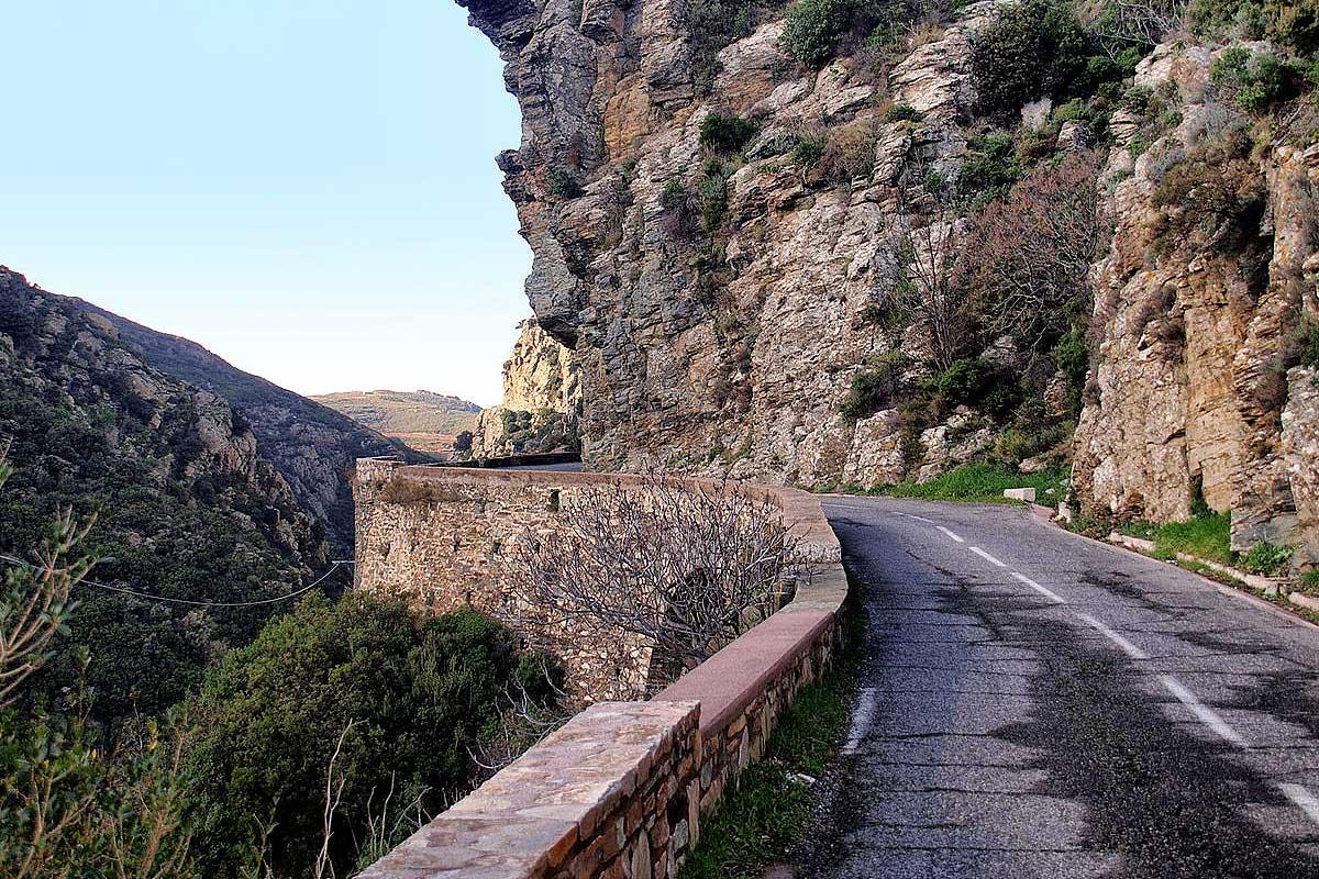 Carte et route de Corse